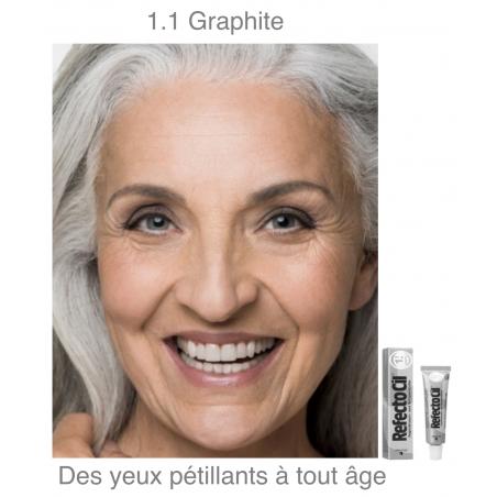 Teinture pour cils et sourcils RefectoCil No.1.1 GRAPHITE 15 ml yeux pétillants à tout age