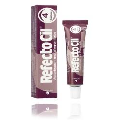 Teinture pour cils et sourcils RefectoCil No.4 Châtain – nouvelle formule, 15 ml