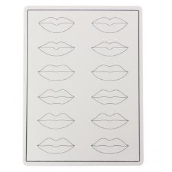 Peau d'entrainement lèvres